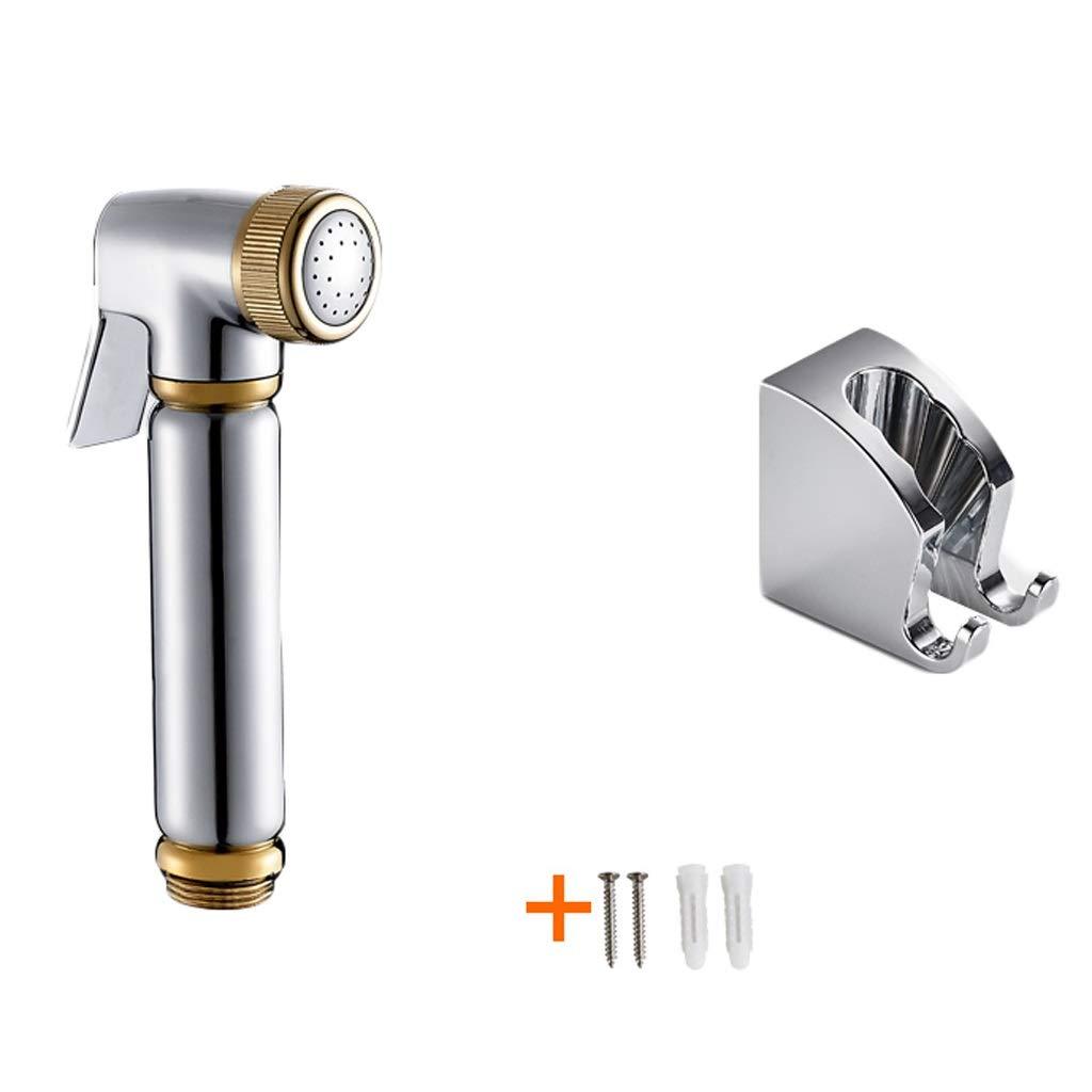 Sprayers Flusher Piece Set Handheld Bidet Toilet Sprayer Hygiene Bidet Shower Sprayer Bronze Pressurized Washing Faucet Toilet Spray Gun (Color : B1-Gun 2 Piece Set)
