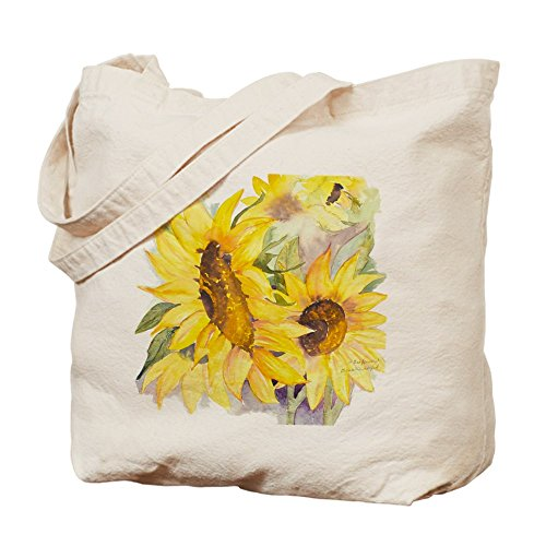 CafePress - Sunflowers Flower - Natural Canvas Tote Bag, Cloth Shopping Bag