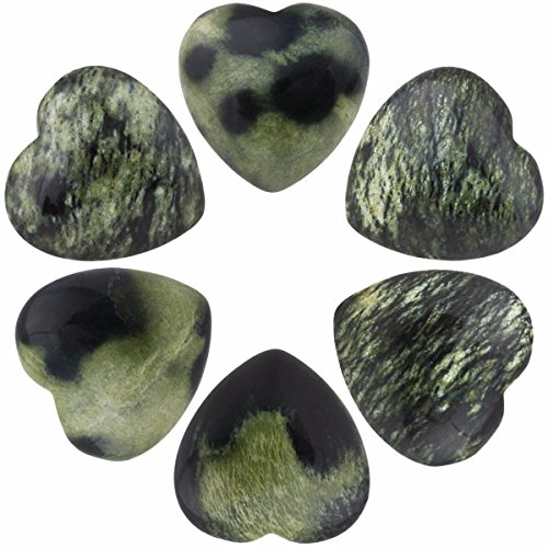 SUNYIK Blossom Agate Carved Puff Heart Pocket Stone,Healing Palm Crystal Pack of -
