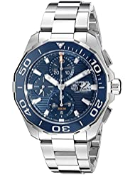 TAG Heuer Mens CAY211B.BA0927 Aquaracr Analog Display Swiss Automatic Silver Watch