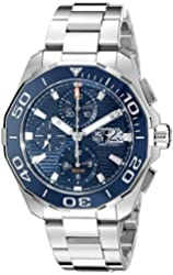 TAG Heuer Men's CAY211B.BA0927 Aquaracr Analog Display Swiss Automatic Silver Watch