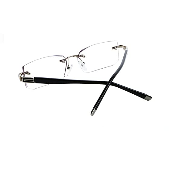59aca9ed7506 Amazon.com  MINCL Rimless Lightweight Trimming Readers Ultra Comfort  Quality Glasses for Reading Men (black