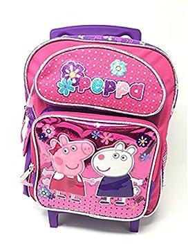 Pequeña rodando mochila - Peppa Pig - w/amigo Suzy mochila escolar 155340: Amazon.es: Juguetes y juegos