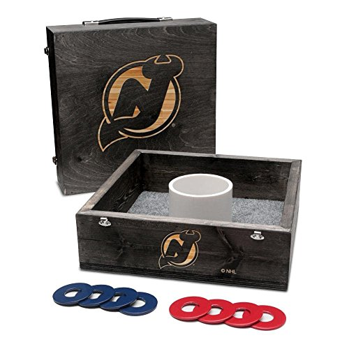 (Victory Tailgate New Jersey Devils Washer Game Set Onyx Stained)