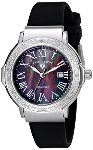 Swiss Legend Women's 20032D-01 South Beach Collection Diamond Accented Black Watch