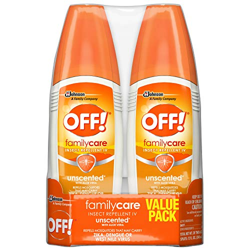 - OFF! FamilyCare Insect Repellent IV Unscented, 6 oz, 2 ct