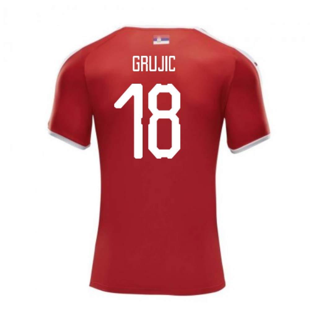【メーカー公式ショップ】 2018-2019 Serbia Home B07DK4J59V Puma Football Shirt Puma (Marko Adults Grujic 18) B07DK4J59V Medium Adults Red Red Medium Adults, 藤里町:65fecb1d --- svecha37.ru
