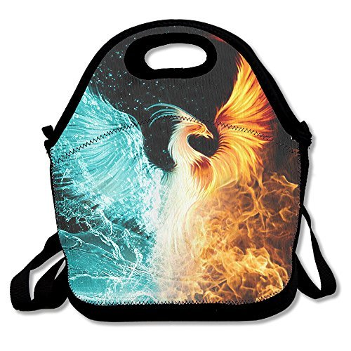 Fire Ice Phoenix Lunch Tote Bag Bags Awesome Lunch Handbag Lunchbox Box For School Work Outdoor