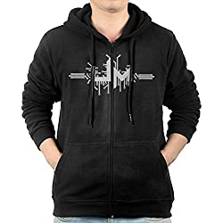 Progressive Rock Band Umphrey's McGee Mens Hooded Sweater Pocket Zipper Hooded Sweatshirt Full Zip Hoodie With Pocket Size L Black