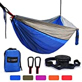 Camping Hammock, Lightweight Portable Garden Double Hammocks - Premium Nylon Parachute Hammock With Tree Straps For Backpacking Travel Beach Yard(5 Colors)