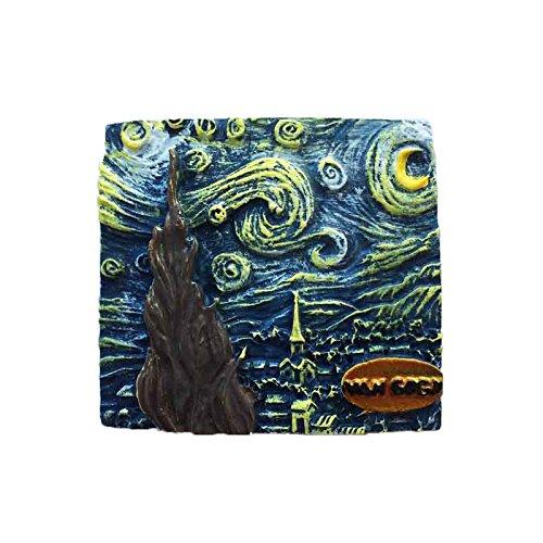 Famosa pintura 3D The Starry Night Van Gogh Holland Imán de nevera ...