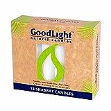 GoodLight Paraffin-Free Shabbat Shabbos Sabbath Candles - Pack of (72)