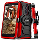 zte zmax swivel clip - Evocel ZTE ZMAX PRO [New Generation] Rugged Holster Dual Layer Case [Kickstand][Belt Swivel Clip] For ZTE ZMAX PRO (2016 Release) / ZTE Carry, Red (EVO-ZTECARRY-XX03)