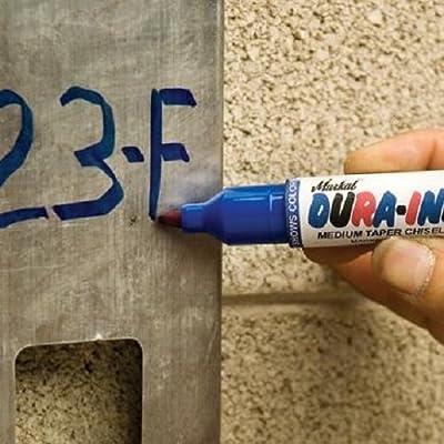 Markal 96529 Dura-Ink 55 Medium Taper Chisel Tip Permanent Marker Black
