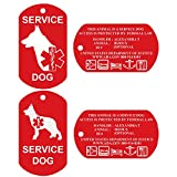 CNATTAGS Personalized Front and Back Aluminum Service Dog ID Tags, Set of 2