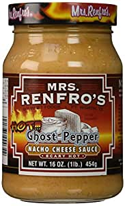 Mrs. Renfro's Nacho Cheese Sauce, Ghost Pepper, 16 Ounce