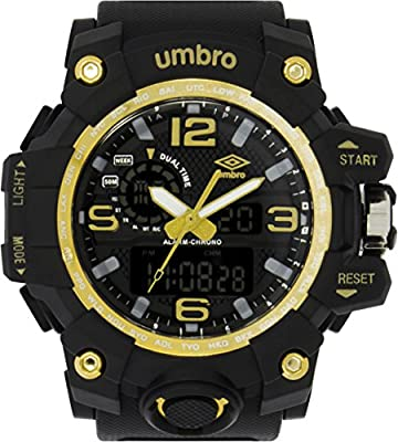 UMBRO UMB-010-2 Unisex ABS Black Band, ABS Bezel 51mm Case Digital MIYOTA AL35 SR626Sw Electronic Precision Movement Water Resistant 5 ATM Sport Watch