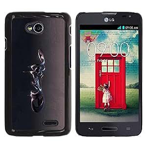 Be Good Phone Accessory // Dura Cáscara cubierta Protectora Caso Carcasa Funda de Protección para LG Optimus L70 / LS620 / D325 / MS323 // Abstract 3D
