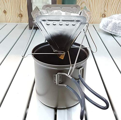 FENGTAIKE 16.5 15cm Stainless Steel Outdoor Camping Folding Portable Tea Coffee Drip Rack Coffee Maker Hand Punch Travel Stainless Steel Coffee Filter Stand by FENGTAIKE