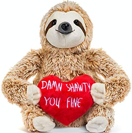 3cf4d5a949c Image Unavailable. Image not available for. Color  Light Autumn Valentines  Day Stuffed Animals - Girlfriend Gifts - Valentine Sloth Bear ...