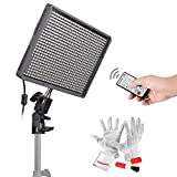Aputure HR672C High CRI LED Video Light Wireless Remote Control Panel Digital Camera LED Light 3200K to 5500K for Canon, Nikon, Pentax, Panasonic, Sony, Samsung and Olympus Digital SLR Cameras