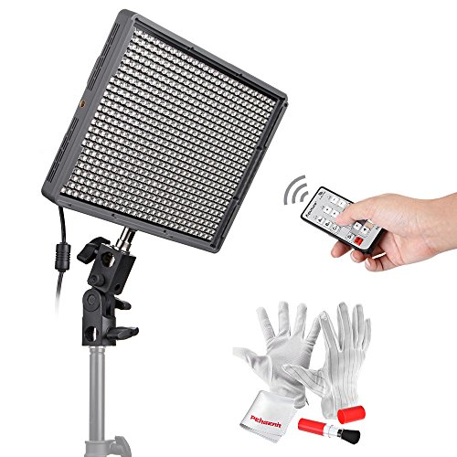 Aputure HR672C High CRI LED Video Light Wireless Remote Control Panel Digital Camera LED Light 3200K to 5500K for Canon, Nikon, Pentax, Panasonic, Sony, Samsung and Olympus Digital SLR Cameras by Emgreat