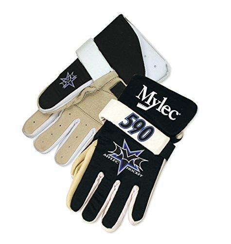 MYLEC ROLLER HOCKEY PLAYER GLOVES BLACK - Black Gloves Junior Hockey
