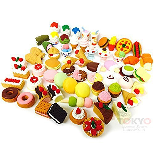 DESSERT FOOD CAKE Japanese Puzzle Eraser IWAKO (20 will be randomly selected from image shown) (20 Childrens Puzzles)