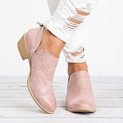 Short Ankle Ladies Boots Shoes Pink Autumn Women Solid Amiley Leather Fashion Shoes Martin PXqTvcaxn