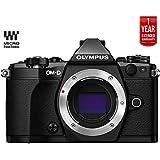 Olympus OM-D E-M5 Mark II Micro Four Thirds Digital Camera Body (Black) V207040BU000 - (Certified Refurbished) + 1 Year Extended Warranty