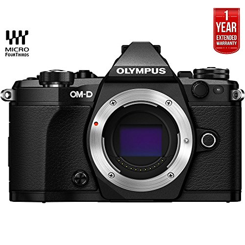 Olympus OM-D E-M5 Mark II Micro Four Thirds Digital Camera Body (Black) V207040BU000 - (Certified Refurbished) + 1 Year Extended Warranty