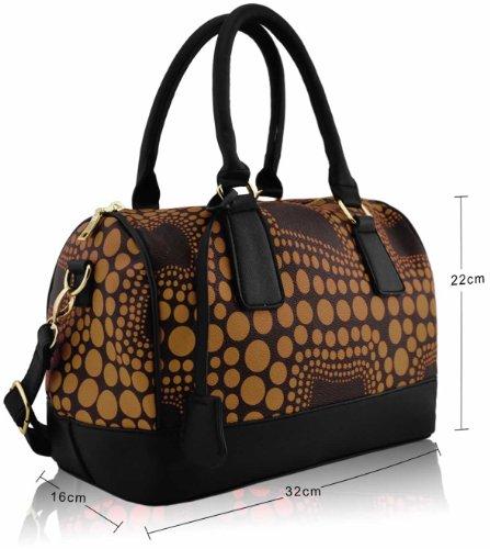 ANNA GRACE - Bolso mochila  de piel sintética para mujer Design 1 - Nude