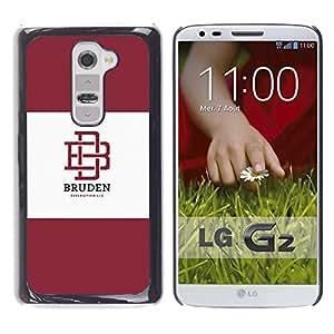 Be Good Phone Accessory // Dura Cáscara cubierta Protectora Caso Carcasa Funda de Protección para LG G2 D800 D802 D802TA D803 VS980 LS980 // university brand maroon logo student