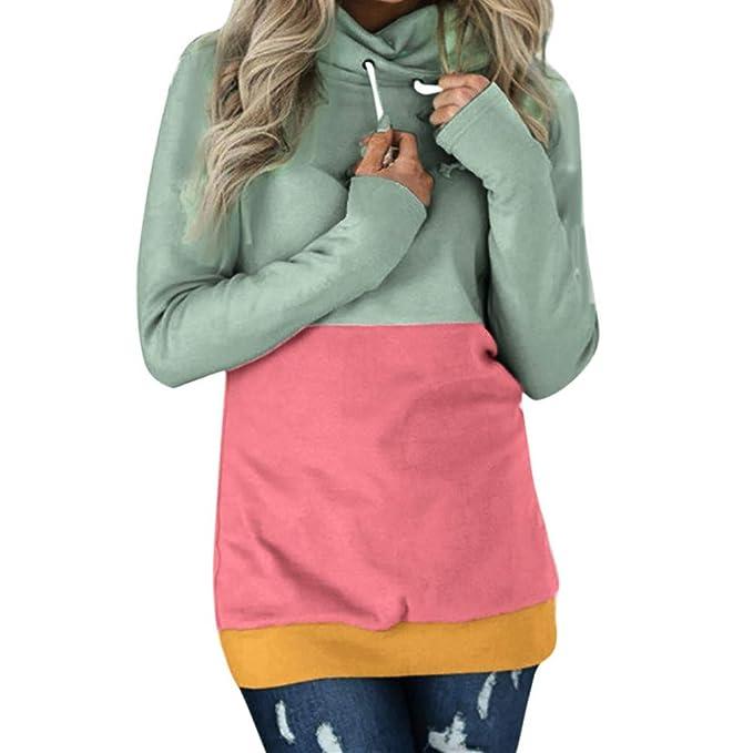 7da423d9ce6c Frauit Damen Frauen Langarm Kapuzenpullover Sweatshirt Kapuze Hoodie Herbst  Winter Crop top Pullover T-Shirt