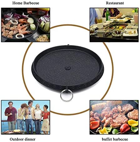 DSDNN Outdoor Griglia for Barbecue Antiaderente Barbecue Rotonda Pan Griglie Facilmente Pulito Alluminio Portatili di Gas Fornello Stoviglie Accessori