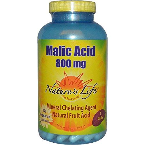 (Nature's Life, Malic Acid, 800 mg, 250 Veggie Caps - 2pc)