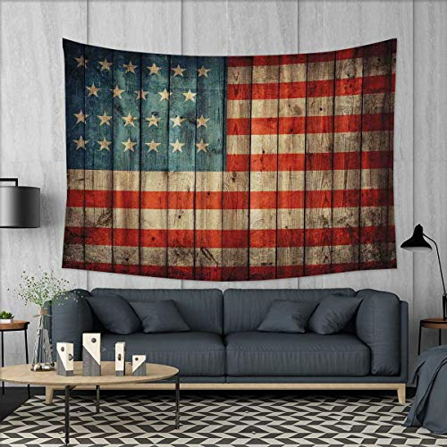 smallbeefly Rustic American USA Flag Tapestry Wall Hanging 3