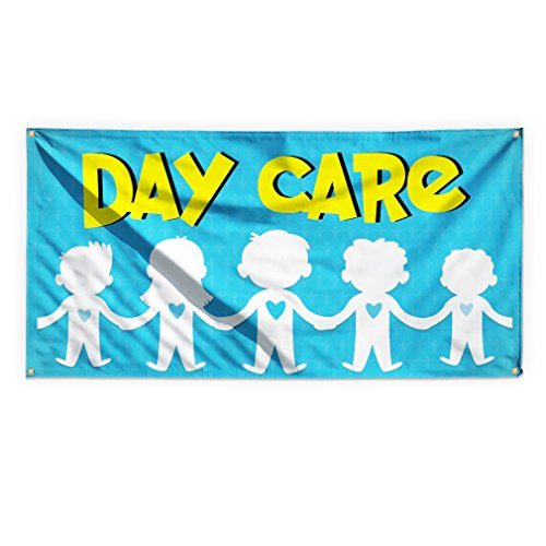 Day Care #1 Outdoor Advertising Printing Vinyl Banner Sign With Grommets - 2ftx3ft, 4 Grommets