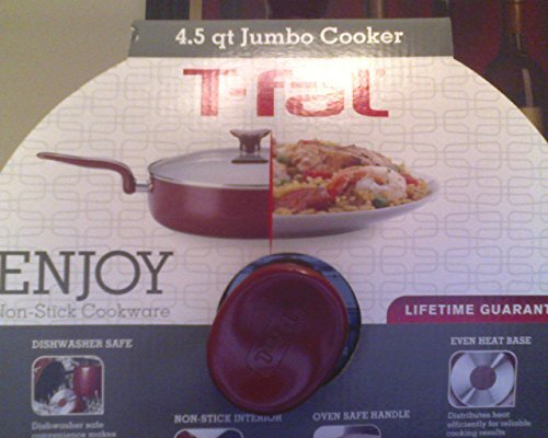 T-FAL 4.5 QUART JUMBO COOKER  WITH GLASS LID - NON STICK INT