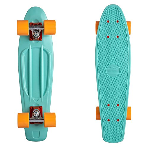 Ten Toes  Quip Complete Skateboard 22.5' Classic Plastic Mini Cruiser Skateboards w/ABEC 7 Bearings