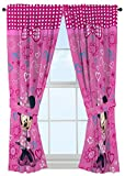 Disney Minnie Mouse Window Panels Curtains Drapes Pink Bow-tique, 42' x 63' each