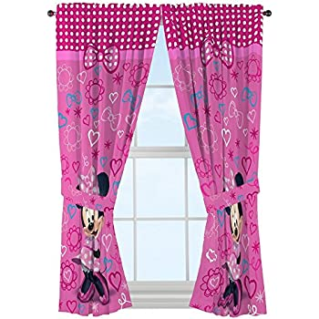 Amazon Com Disney Minnie Mouse Window Panels Curtains