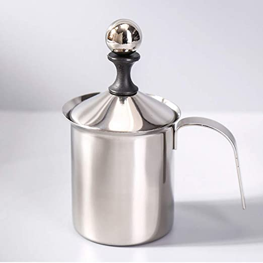 Espumador de leche manual de 400 ml/800 ml, espumador de leche de ...