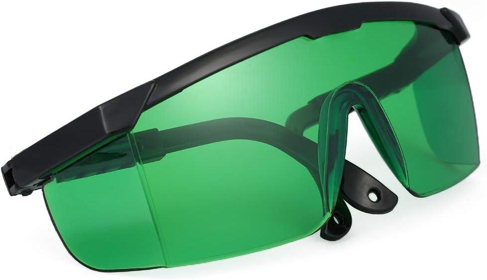 KKmoon Blue Violet Gafas de Protección láser Gafas Protectoras Contra Láser Lentes de Protección Ocular Gafas Protectoras para uso Industrial