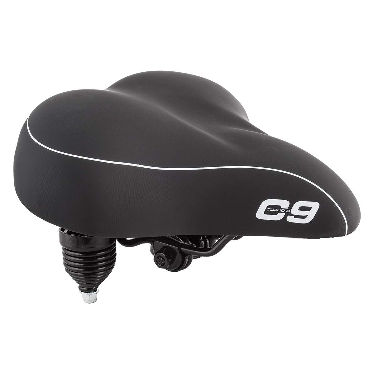 Sunlite Cloud-9 Bicycle Suspension Cruiser Saddle, Cruiser Gel, Tri-color Black by Cloud-9