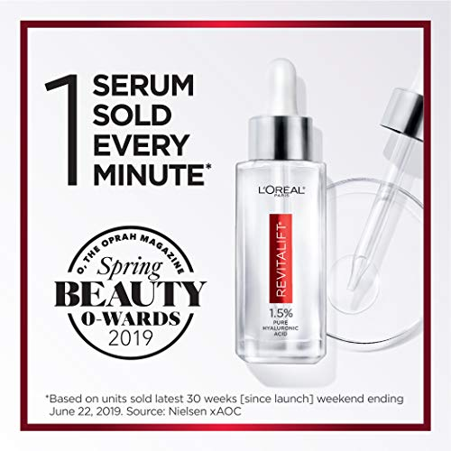 51bZLjEUJBL - Pure Hyaluronic Acid Serum By L'Oreal Paris Skin Care I Revitalift Derm Intensives 1.5% Pure Hyaluronic Acid Anti-Aging Face Serum To Visibly Plump & Reduce Wrinkles I 1.0 Oz