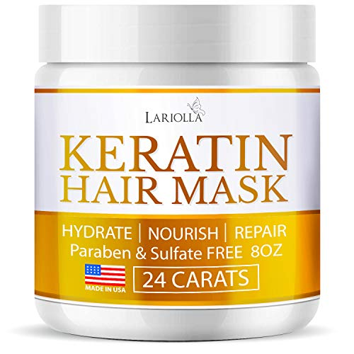 Keratin Hair Mask - Repairs Dry & Damaged Hair - Professional Keratin Hair Treatment with Avocado Oil - Aloe Vera - Vitamin E - Made in USA - Effective Keratin Complex - Anti Frizz Hair Mask
