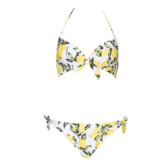 ec55350d48ef Cocoty-Store 2019 Bikini Mujer Trajes de Baño con Relleno Push-Up ...