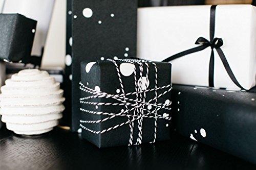 BEST LUXURY GIFT WRAP : MODERN DOT BLACK & WHITE PREMIUM (SET OF 2 (Luxury Wrapping Paper)