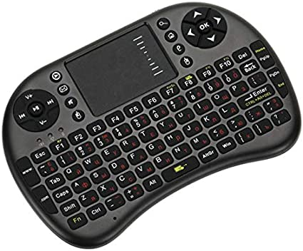 Color: Black Calvas 2.4G Mini USB Wireless Russian Version Keyboard Touchpad /& Air Mouse Fly Mouse Remote Control for Android TV Box Smart Phone